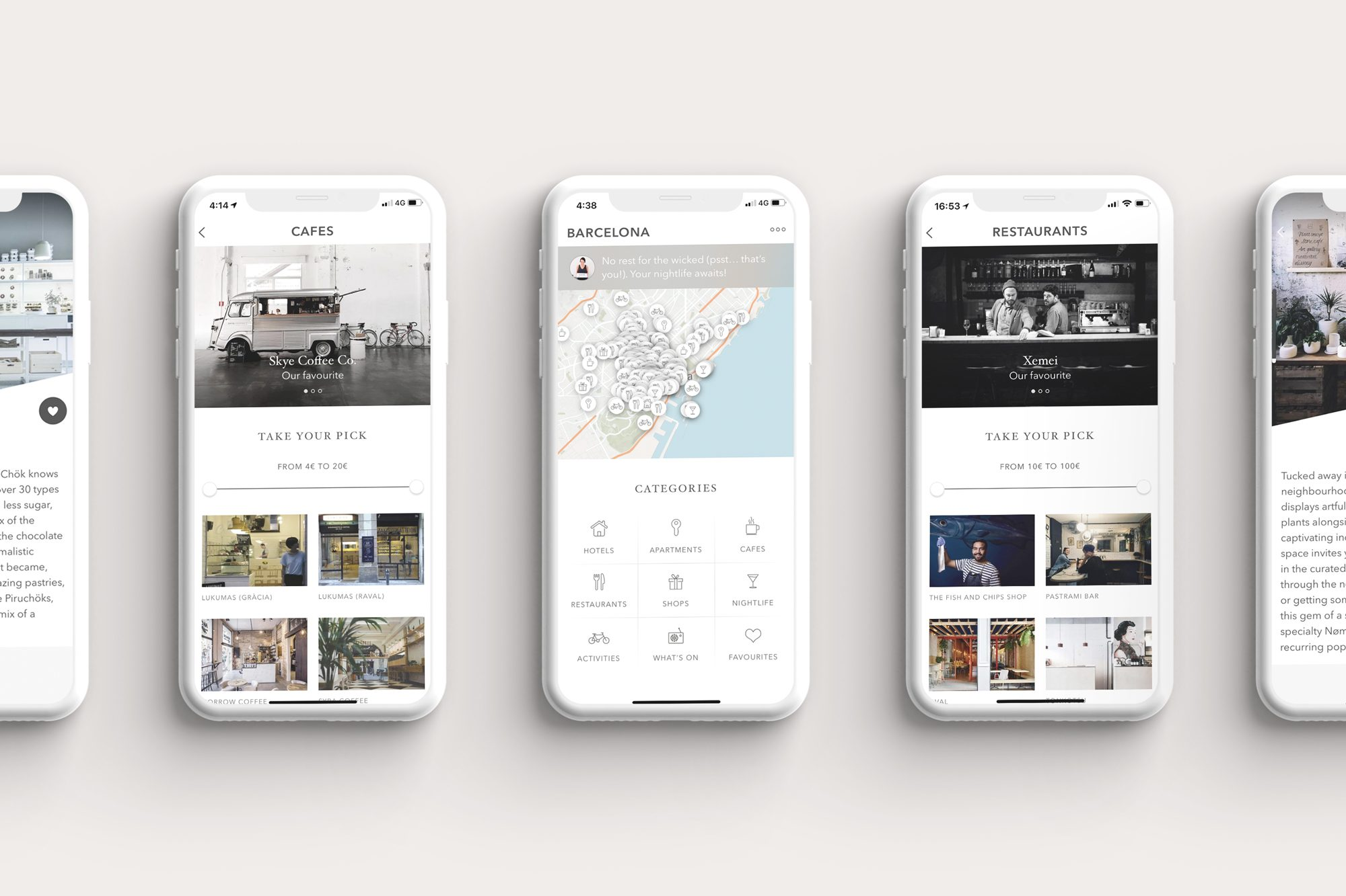 Barcelona city guide App featuring all the Cool things to do in Barcelona