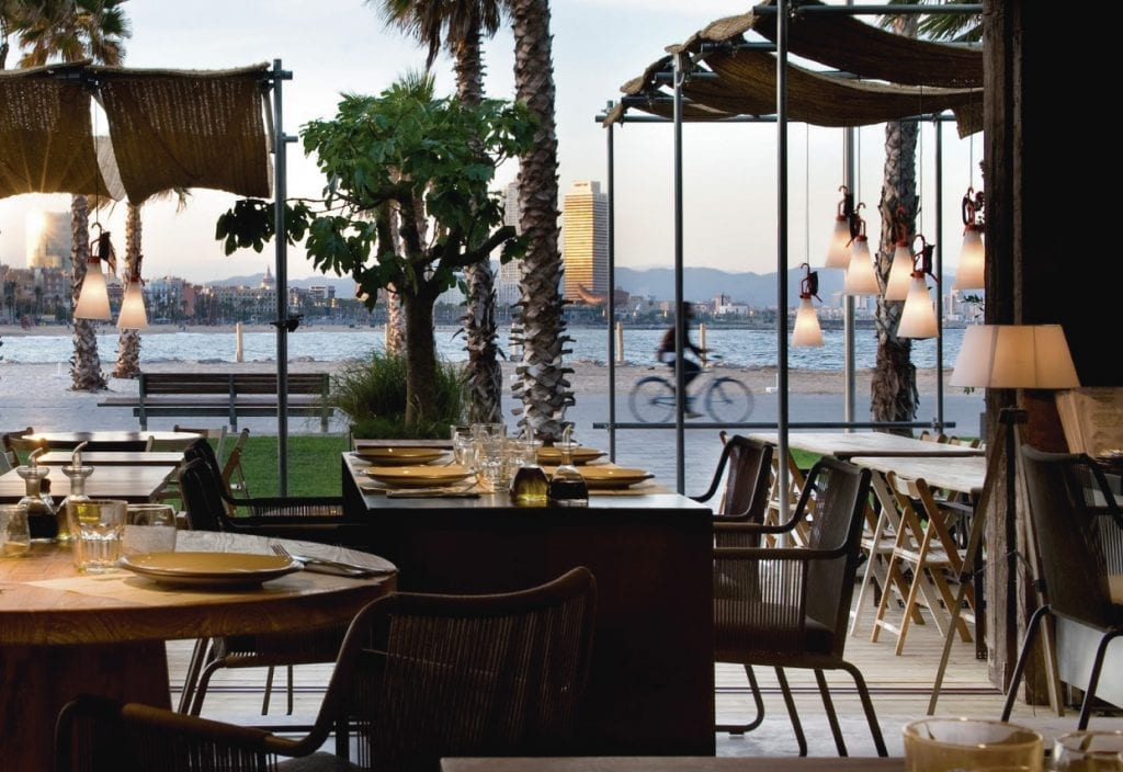 Pez Vela restaurant, tasting their paella with beachfront views is one of the cool things to do in Barcelona