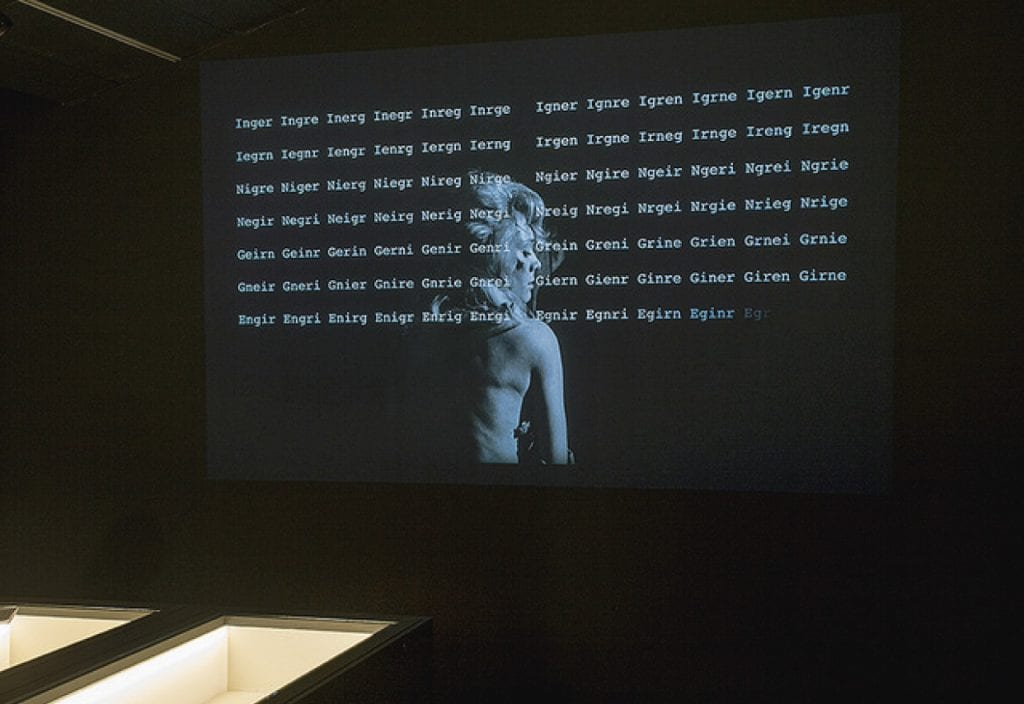 A screen in an exhibition at CCCB, where you can discover new trends in Barcelona