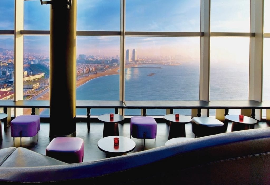 Eclipse Bar views, from the 26th floor of the W Hotel in Barcelona