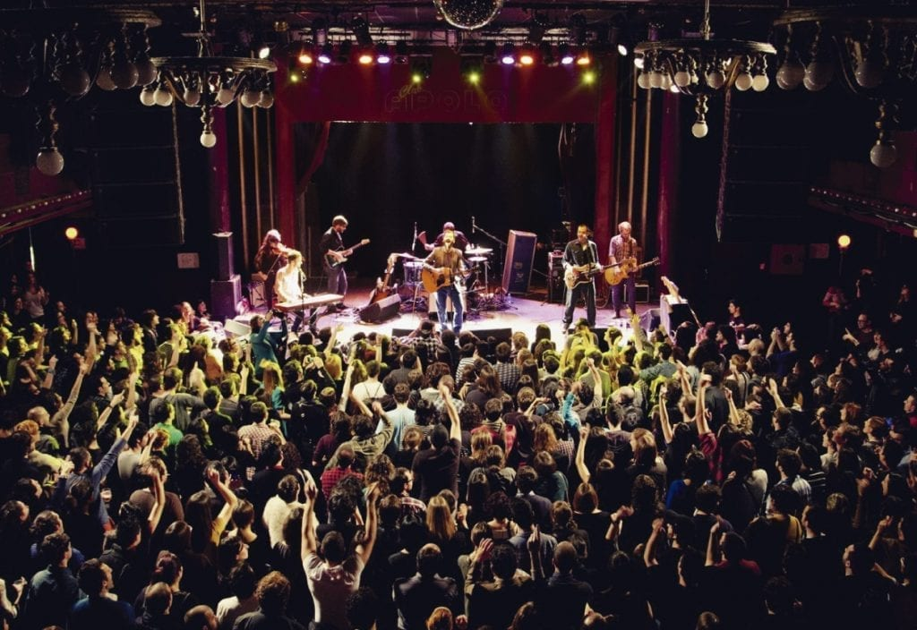 Concert at Sala Apolo, known among Barcelona's young as one of the places to head for the latest songs
