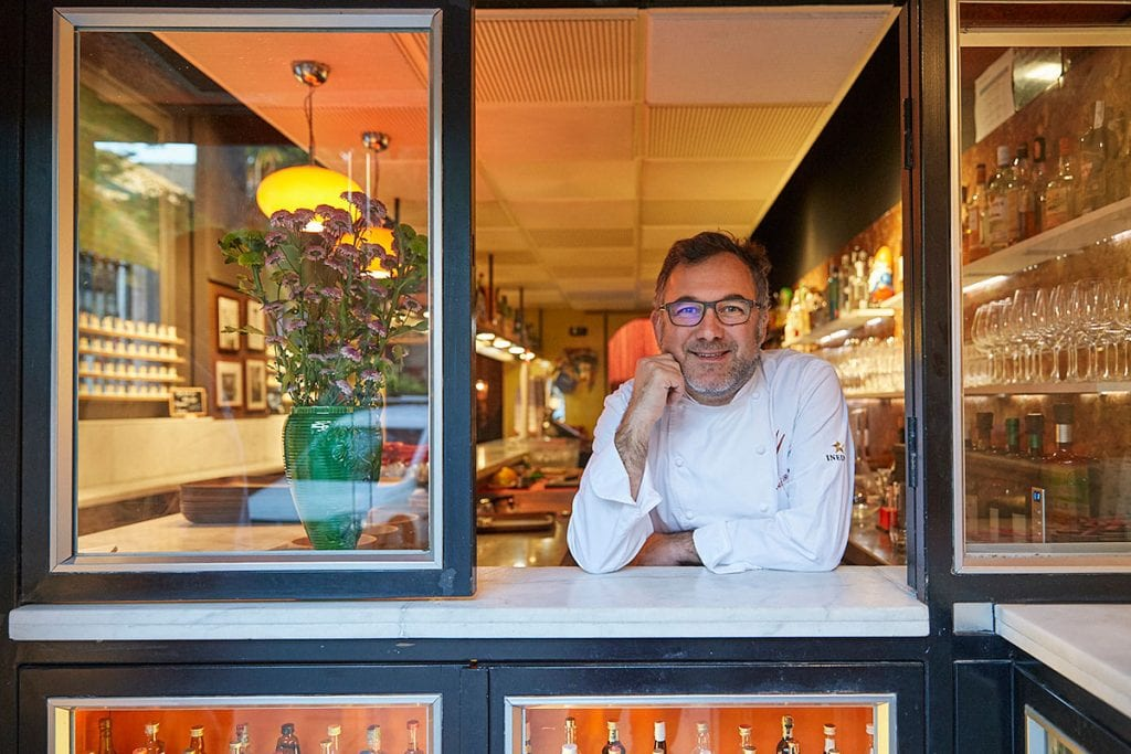 Dos Palillos chef in his restaurant where eating is one of the best things to do in Barcelona