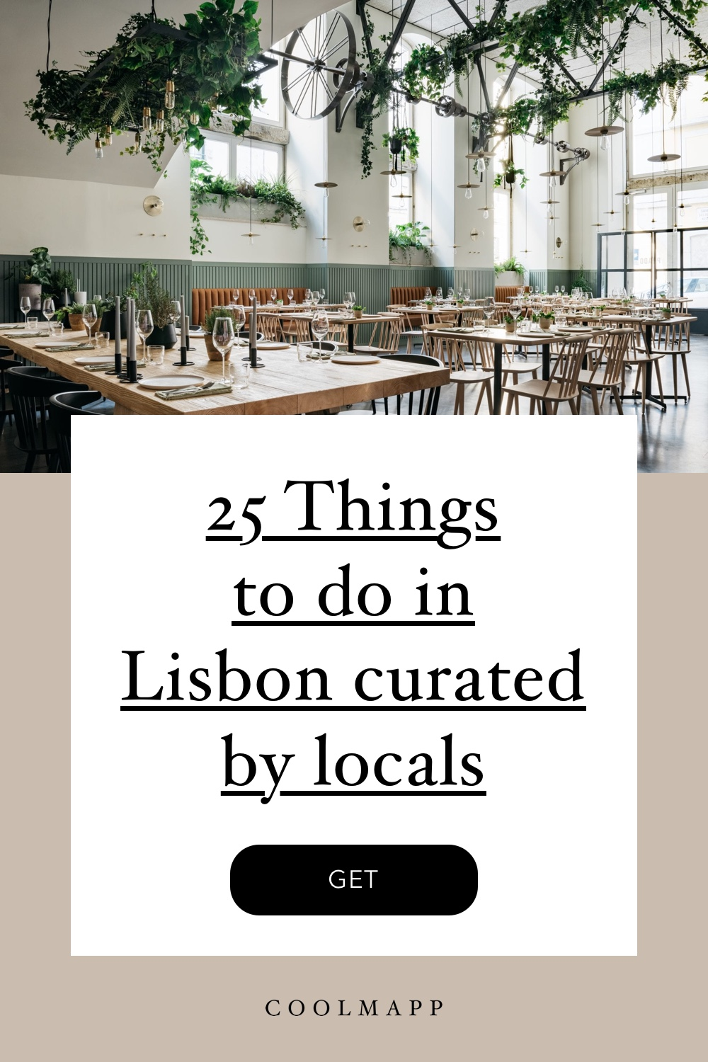 25 cool things to do in Lisbon - like restaurants, coffeeshops, bars, hotels, apartments, etc